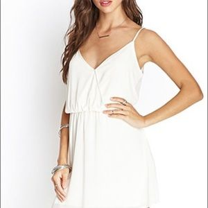 Forever 21 Ivory Sleeveless Mini Sundress